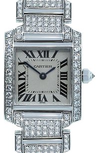 Cartier Cartier Tank Francaise 18k White Gold Diamonds Watch