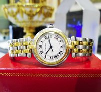Cartier Ladies Cartier Panther Panthere 18k Gold Stainless Steel Roman Round Watch