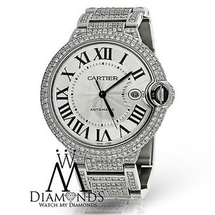 Cartier Diamond Cartier Ballon Bleu 42mm W69012z4 Automatic Watch