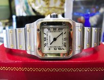Cartier Ladies Cartier Santos Steel 18k Yellow Gold Quartz Roman Numeral Watch