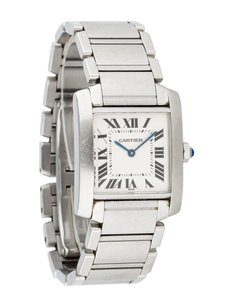 Cartier Ladies Cartier Tank Francaise Stainless Steel Watch 2301