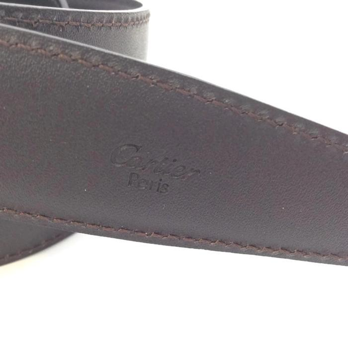 cartier s brown belt with gold buckle 48 retail