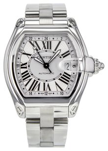 Cartier Men's Roadster XL GMT W62032X6 Stainless Steel Watch CRTSR119
