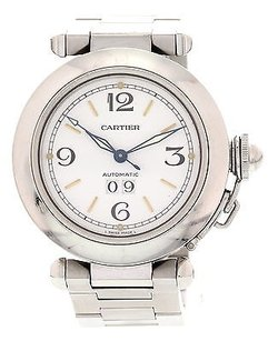 Cartier Mens Ladies Pasha De Cartier Automatic 2475 Stainless Steel