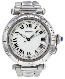 Cartier Pasha 38mm Stainless Steel Automatic Watch CRTSP33