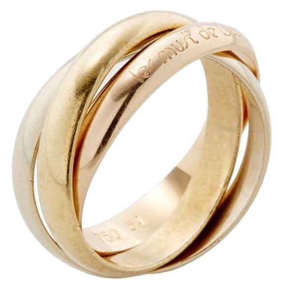 Cartier Trinity Wedding Ring: Cartier Trinity 18k Gold Size 4/47 Ring