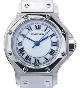 Cartier Vintage Cartier Santos Solid Stainless Steel Automatic Watch 90s Scx207
