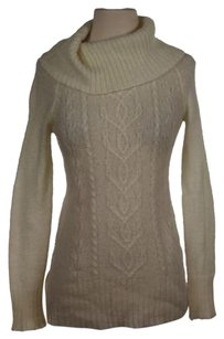 Caslon Womens Off White Solid Sweater