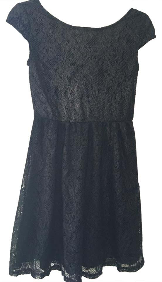Catch My I Foil Lace Skater Dress