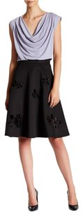 Catherine Malandrino Cutout Flared Floral Skirt Black