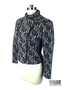 Catherine Malandrino Lace Wool Moto So Gr8 Find grey Jacket