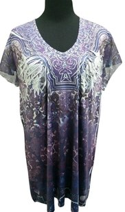 Cato Rhinestones Lace Top Purple