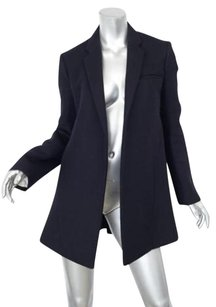 Céline Womens Classic Navy Wool Flare Open Jacket 364 Coat