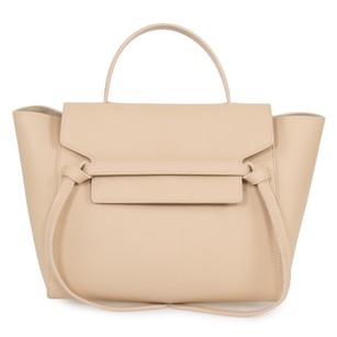 Céline Belt Medium Grain Tote in Beige