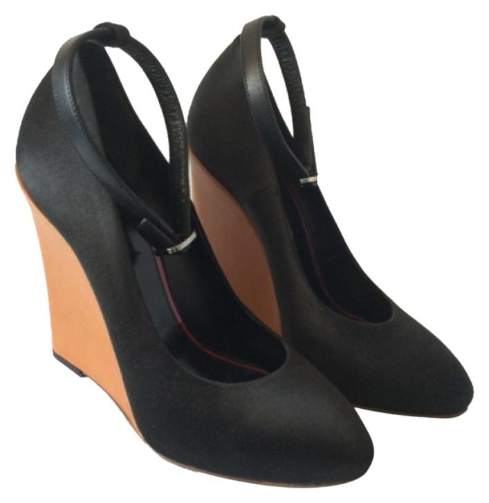 Céline Black Wedges Size US 7 Regular (M, B)