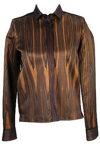 Cline Celine Camouflage Womens Suit Brown Silk Blend -