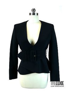 Céline Celine Incredible Wide Belted Peplum Jacket Insane Fit Chic Only