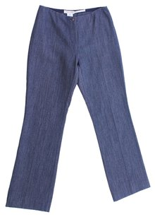 Céline Stretch Tapered Leg Eu Denim Straight Pants Blue