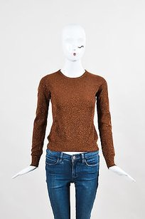 Céline Metallic Cashmere Long Sleeve Sweater