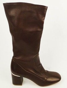 Céline Nappa Burgundy Calf Leather Heel Pull On Zip Up Burgundy/Wine Boots