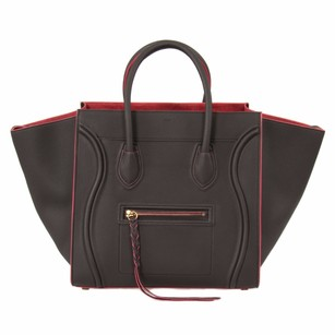 Céline Luggage Phantom Lambskin Shoulder Bag