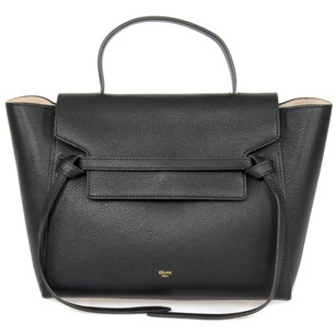 Céline Pebbled Leather Classic Calfskin Shoulder Bag