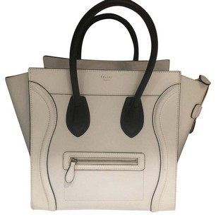 Céline Satchel in white & black
