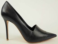 Céline Navy Leather Pointed Toe Stiletto Heels Eu Black / Blue Pumps
