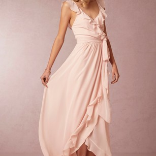 Tiny Dancer ( Light Pink) Ceremony By Joanna August Bridesmaid Formal Gown Size Small Dress
