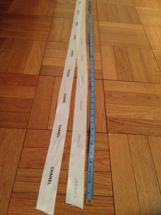 """Chanel 8 Feet Of Satin Ribbon From Chanel (1.5"""" wide)"""