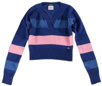 Chanel 34 Blue Cashmere Ias Sweater