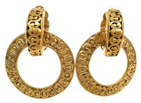 Chanel Auth CHANEL 2 Way Clip Earrings Metal Gold (BF077464)