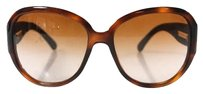 Chanel AUTH CHANEL Brown Lens Denim Sides Sunglasses