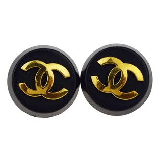 Chanel Auth CHANEL CC Logo XL Jumbo Earrings