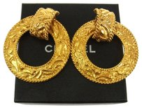 Chanel Auth CHANEL Vintage CC Logos Earrings Gold-Tone Clip-On Accessories LP10598