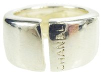 Chanel Authentic CHANEL Logos Ring Silver 925 #6 Accessories Vintage 07F168