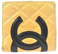Chanel Authentic CHANEL Quilted Bifold Wallet Purse Leather Beige France Vintage E00880