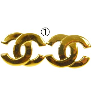 Chanel Authentic CHANEL Vintage CC Logos Earrings