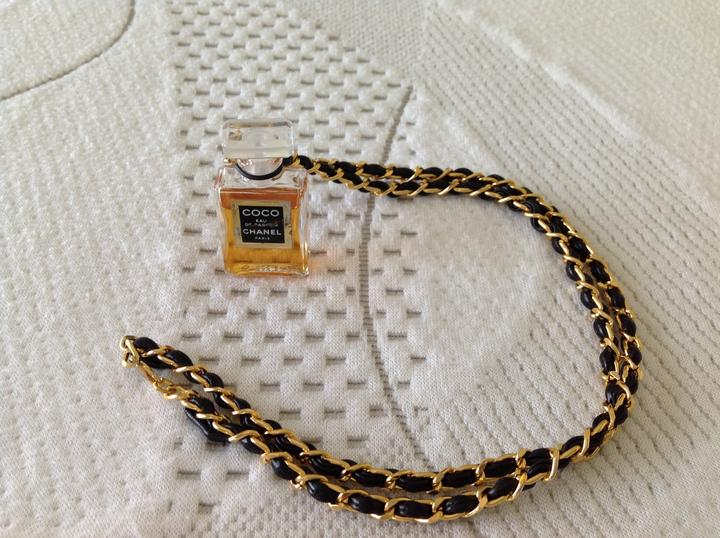 Chanel Necklace Chanel Black Gold Necklace