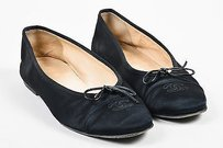 Chanel Satin Grosgrain Black Flats