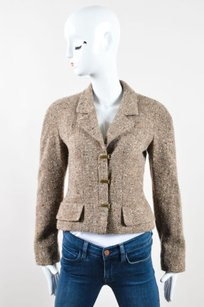 Chanel Taupe Gold Brown Jacket
