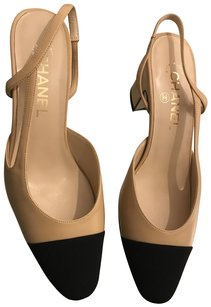 Chanel Slingback Christian Louboutin Classic Beige Pumps