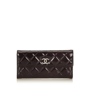 Chanel Black Leather Long Patent Leather 6ichco002