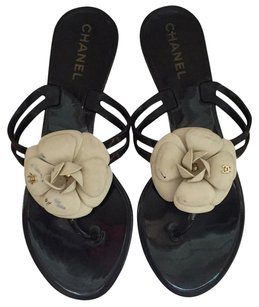Chanel Black / White Sandals