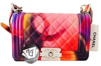 Chanel Boy Mini Boy Mini Limited Le Boy Flower Power Tie Dye Limited Edition Cross Body Bag