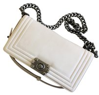 Chanel Boy Iridescent Stiched Cross Body Bag