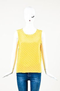 Chanel Vintage White Top Yellow