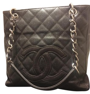 Chanel Caviar Pst Shopping Tote in Brown