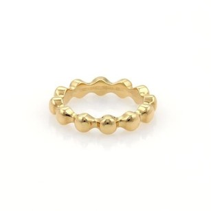 Chanel Chanel 18k Yellow Gold Single Bead Stack Band Ring Eu 52-us