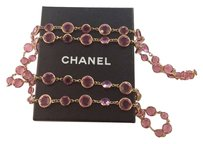 Chanel Chanel 1981 Vintage Pink Crystal Sautoir Necklace